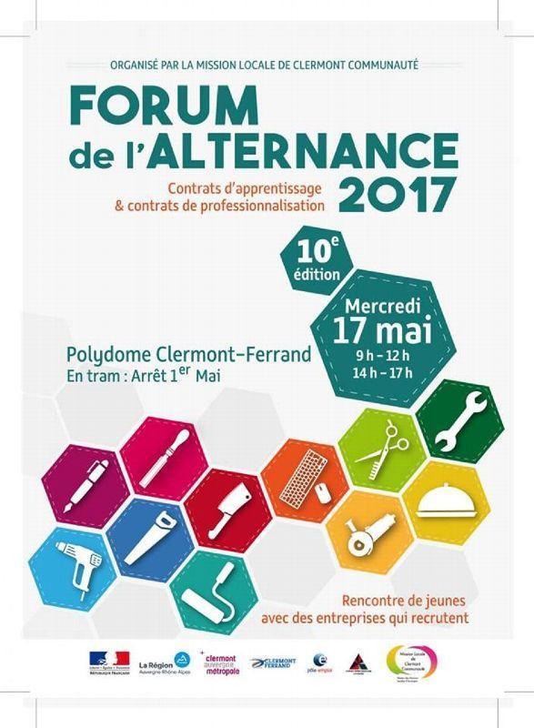 Le forum de l'alternance est à Clermont ce mercredi 17 mai