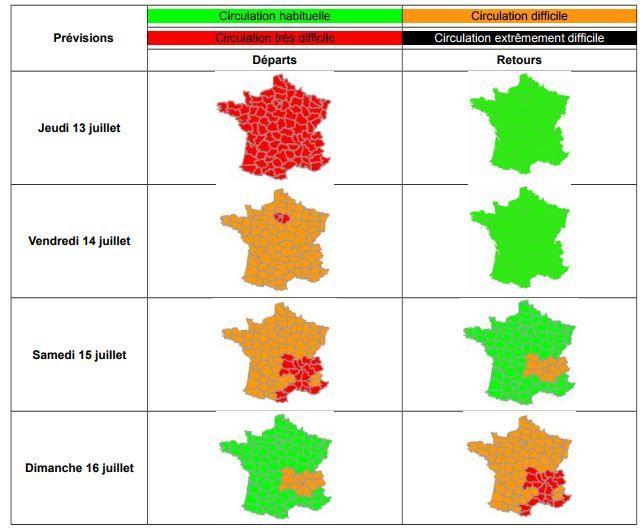 Trafic : Bison Futé voit rouge jeudi et orange ce week-end au niveau national