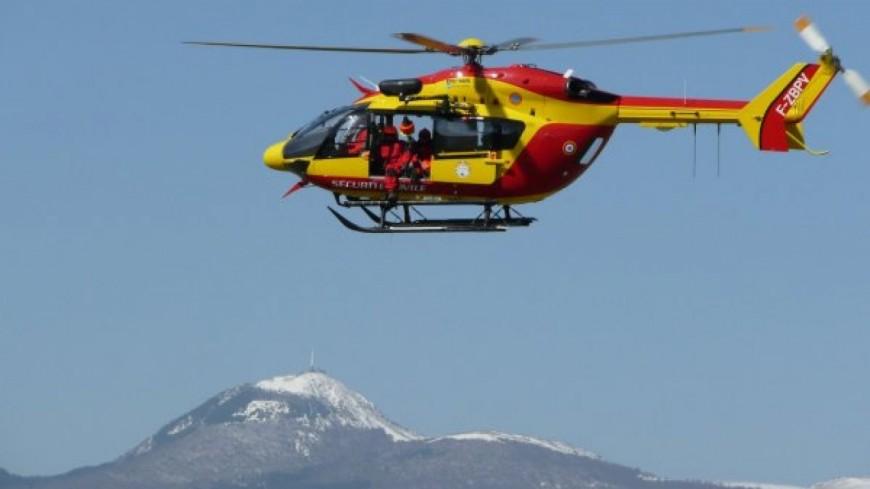 Cantal : Un randonneur secouru par hélicoptère