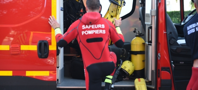 Le Puy-en-Velay : Un chien secouru de la noyade par des plongeurs